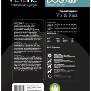 Futter von Vet-Line_Hund_Adult_Fisch_Reis_Hypoallergeen