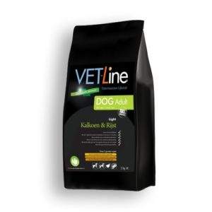 Futter von Vet-Line, Adult, Hund, Pute und Reis, Light