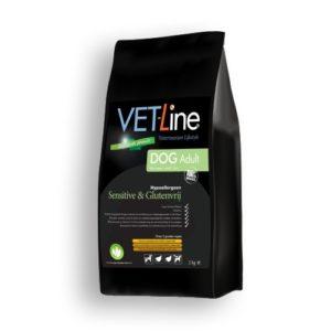 Futter von Vet-Line, Hund, Adult Sensitive, Glutenfrei Hypoallergen